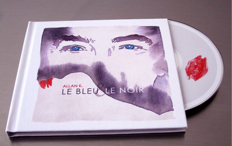 "artwork digipack ""Le bleu et le noir"" by Allan K"